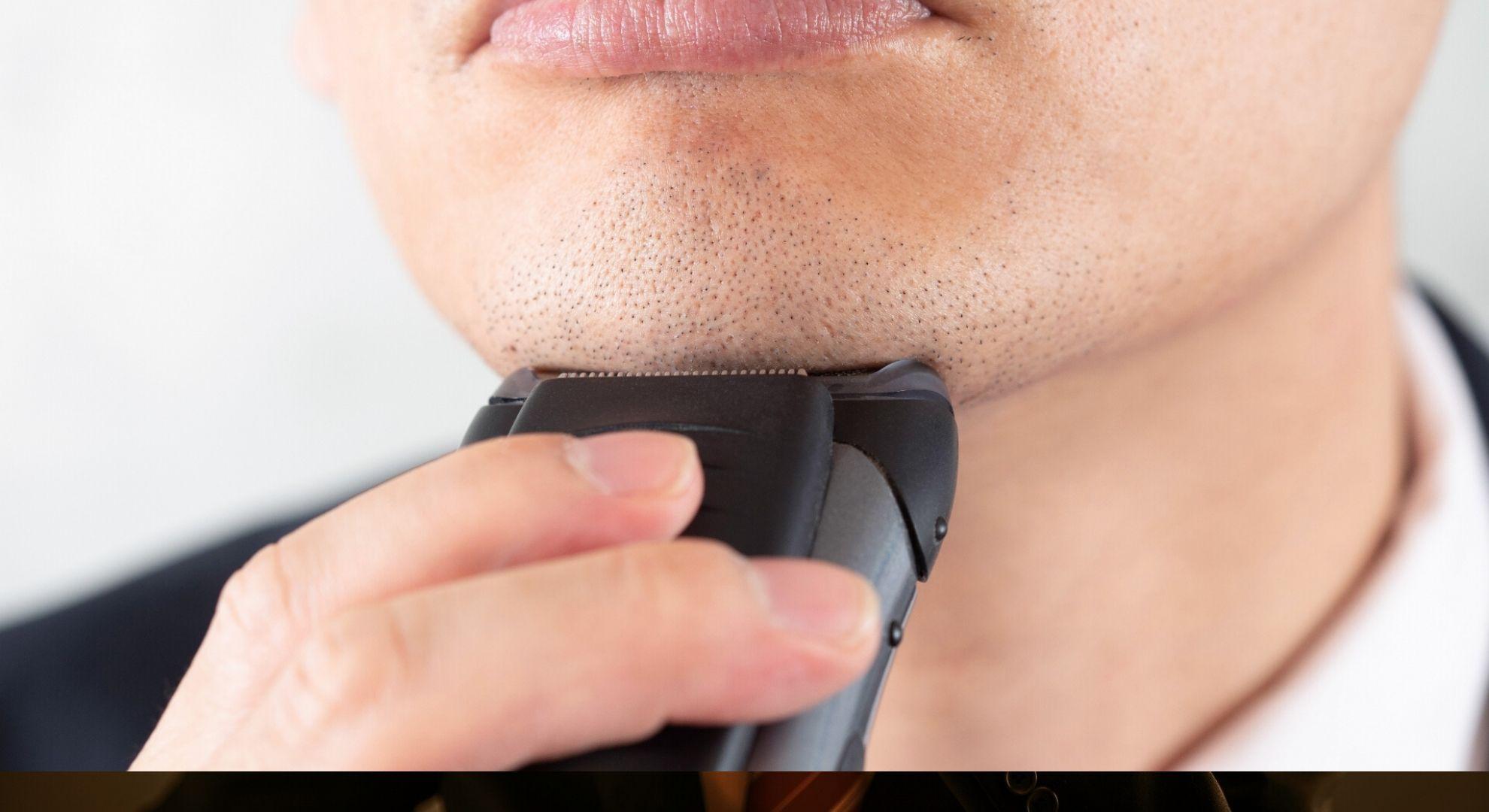 正しいひげ剃りを行う